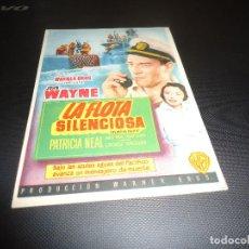 Cine: PROGRAMA DE MANO ORIGINAL - LA FLOTA SILENCIOSA - SIN CINE. Lote 125996855