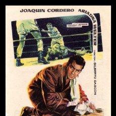 Folhetos de mão de filmes antigos de cinema: FOLLETO DE MANO, EL BOXEADOR, JOAQUIN CORDERO Y DEMAS. 1962.. Lote 126119971