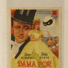 Cine: PROGRAMA DE CINE DAMA POR UNA NOCHE. TEATRO CIRCO (ALBACETE).. Lote 126145963