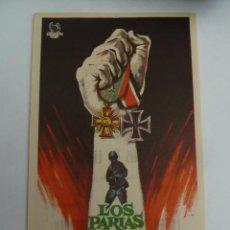 Folhetos de mão de filmes antigos de cinema: LOS PARIAS DE LA GLORIA FOLLETO DE MANO ORIGINAL CON CINE IMPRESO PERFECTO ESTADO. Lote 126156987