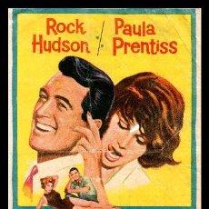 Flyers Publicitaires de films Anciens: FOLLETO DE MANO, SU JUEGO FAVORITO, ROCK HUDSON Y PAULA PRENTISS. 1966. Lote 126159887