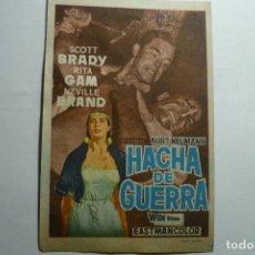 Foglietti di film di film antichi di cinema: PROGRAMA HACHA DE GUERRA - SCOTT BRADY -BB. Lote 126175279