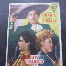 Cine: SOY CHARRO DE RANCHO GRANDE. CINE TEATRO CIRCO ZARAGOZA 1953. Lote 126195627