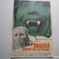 Cine: PROGRAMA DRACULA VUELVE LA TUMBA- C.LEE. Lote 126210435
