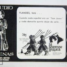 Cine: PROGRAMA DE CINE LOCAL - LA KERMESSE HEROICA - FOTOGRAMAS - STUDIO ATENAS, BARCELONA. AÑO 1968. Lote 126359607
