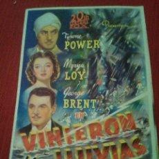 Cine: VINIERON LAS LLUVIAS. Lote 126429979