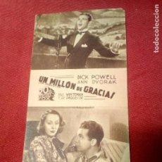 Cine: UN MILLON DE GRACIAS TEATRO SAN FERNANDO . Lote 126433351
