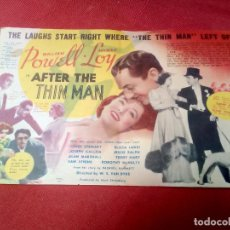 Cine: AFTER THE THIN MAN CINE CAPITOL DE NEW YORK. Lote 126437535
