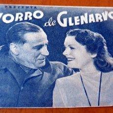 Cine: PROGRAMA DE CINE DOBLE - ORIGINAL - S/P - EL ZORRO DE CLENARVON. Lote 126567251