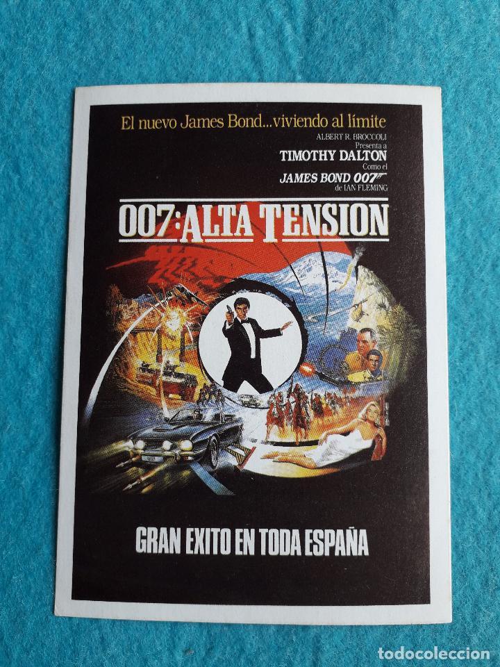 007: ALTA TENSIÓN. TIMOTHY DALTON. (Cine - Folletos de Mano - Acción)
