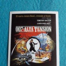 Cine: 007: ALTA TENSIÓN. TIMOTHY DALTON.. Lote 126567467