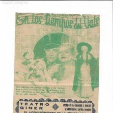 Cine: EN LOS TIEMPOS DEL VALS. Lote 126597891