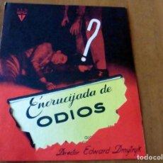 Cine: PROGRAMA DE CINE DOBLE - FOLLETO DE MANO - ORIGINAL - S/P - ENCRUCIJADA DE ODIOS -. Lote 126654419