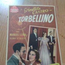 Cine: PROGRAMA DE CINE -TORBELLINO. Lote 126667255