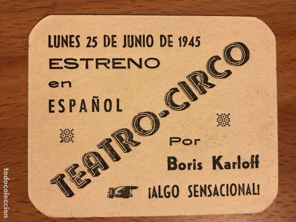 Cine: Folleto de mano programa de cartón El Gorila Boris Karloff.terror.con publicidad - Foto 2 - 126693675