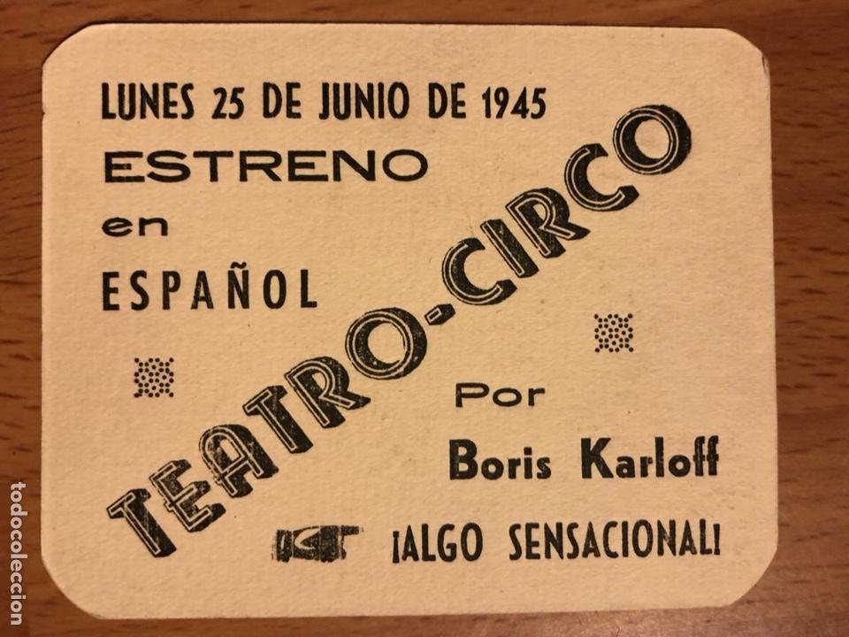 Cine: Folleto de mano programa de cartón El Gorila Boris Karloff.terror.con publicidad - Foto 2 - 126693680