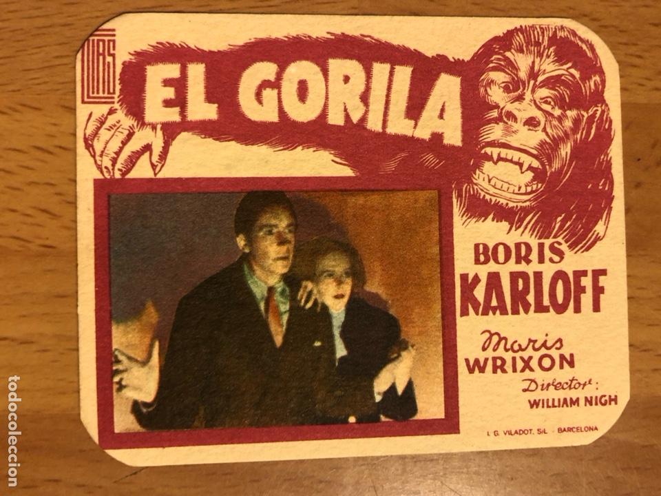 FOLLETO DE MANO PROGRAMA DE CARTÓN EL GORILA BORIS KARLOFF.TERROR.CON PUBLICIDAD (Cine - Folletos de Mano - Terror)