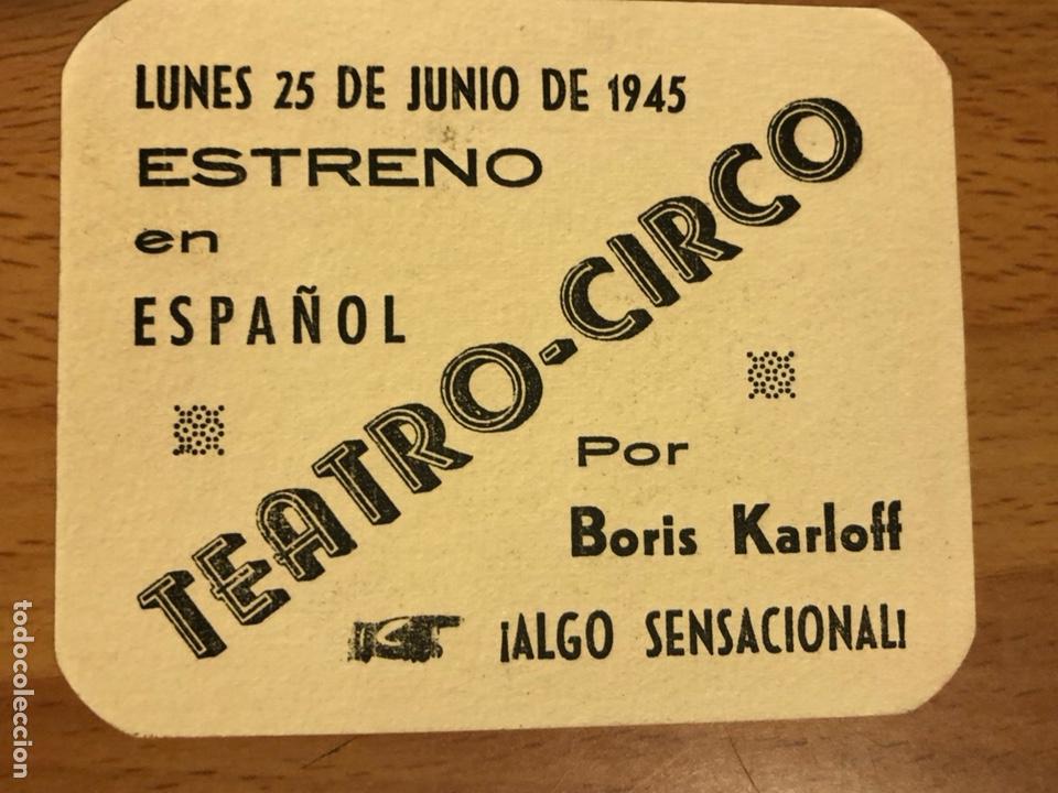 Cine: Folleto de mano programa de cartón El Gorila Boris Karloff.terror.con publicidad - Foto 2 - 126693752