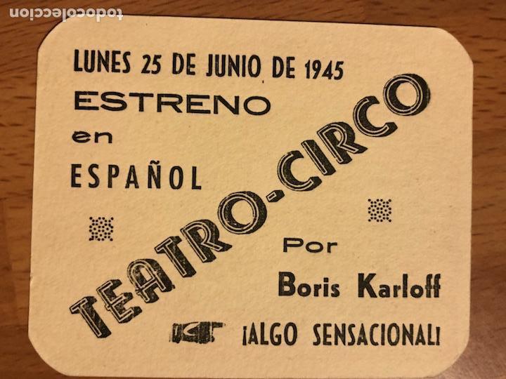 Cine: Folleto de mano programa de cartón El Gorila Boris Karloff.terror.con publicidad - Foto 2 - 126693894