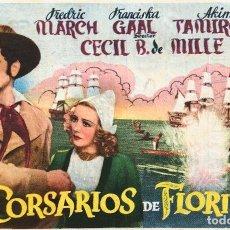 Cine: CORSARIOS DE FLORIDA- TEATRO CIRCO (CARTAGENA). Lote 126715339
