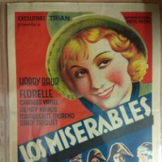 Cine: LOS MISERABLES - CINE - PROGRAMA SENCILLO. GRAN FORMATO.. Lote 211471524
