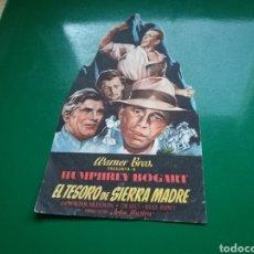 Cine: PROGRAMA DE CINE. EL TESORO DE SIERRA MADRE, HUMPHREY BOGART. PUBLICIDAD CINE CASAL DE LA PRINCIPAL. Lote 126755639