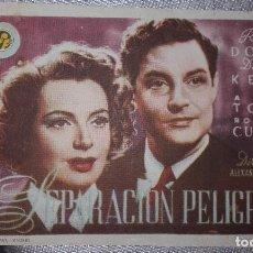 Cine: SEPARACION PELIGROSA ALEXANDER KORDA. Lote 126875827