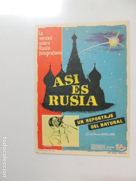 ASI ES RUSIA - FOLLETO MANO ORIGINAL - UNIVERSAL FILMS ALBERICIO (Cine - Folletos de Mano - Documentales)