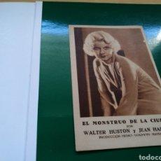 Cine: PROGRAMA DE CINE CARTON. LA MUJER QUE HE CREADO. EL MONSTRUO DE LA CIUDAD. AÑO METRO. 1932-33. Lote 126896995