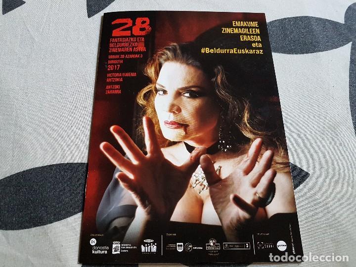 CATALOGO 28 SEMANA DE CINE FANTASTICO Y TERROR MARIA JOSE CANTUDO SAN SEBASTIAN (Cine - Folletos de Mano - Terror)