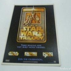 Cine: POSTAL STAR WARS TRILOGY- NUEVO. Lote 126899903