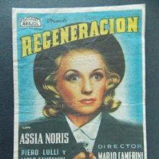 Cine: FOLLETO, PROGRAMA CINE - REGENERACION - CINE ERSA , BALAGUER - AÑOS 50 ...R-9799. Lote 127043315