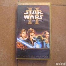 Flyers Publicitaires de films Anciens: STAR WARS II - EL ATAQUE DE LOS CLONES -FORMATO VHS THX - LUCASFILM 2002 - P. Lote 127073115