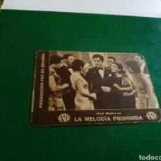 Cine: PROGRAMA CINE CARTÓN AÑOS 30. LA MELODÍA PROHIBIDA, POR JOSÉ MOJICA. TRIANA CINEMA. 1934. Lote 127118888