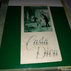 Cine: PROGRAMA DE CINE DOBLE. CASTA DIVA. TEATRO PRINCIPAL. 1936. Lote 127139404