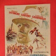 Cine: LOS CONQUISTADORES DEL PACIFICO, SENCILLO, FRANK LATIMORE PILAR CANSINO, C/PUBLI CINE PRINCIPAL 1965. Lote 127187675