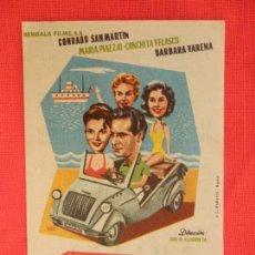 Cine: MUCHACHAS EN VACACIONES, IMPECABLE SENCILLO, CONCHITA VELASCO, CON PUBLI CINEMA VICTORIA 1959. Lote 127187955