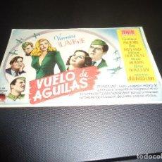 Cine: PROGRAMA DE MANO ORIGINAL - VUELO DE AGUILAS - SIN CINE. Lote 127274767