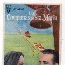 Cine: LAS CAMPANAS DE SANTA MARÍA. INGRID BERGMAN, BING CROSBY.. Lote 127293367