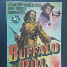 Flyers Publicitaires de films Anciens: FOLLETO CINE - AVENTURAS DE BUFALO BILL - CINE CONDAL, BALAGUER 1948 (PEDIDO MINIMO 3,00 EUR) R-9817. Lote 127305947