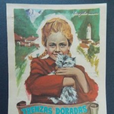 Flyers Publicitaires de films Anciens: FOLLETO CINE - TRENZAS DORADAS - CINE CONDES DE URGEL, BALAGUER 1968 ( PEDIDO MINIMO 3,00 EUR)R-9819. Lote 127333511