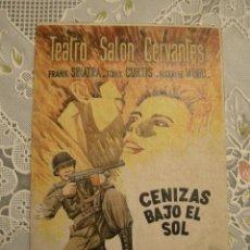 Cine: PROGRAMA DE MANO CENIZAS BAJO EL SOL. TEATRO SALON CERVANTES MADRID. Lote 127596023