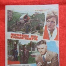 Cine: MISION EN GINEBRA, IMPECABLE SENCILLO, ERIKA BLANC VIDAL MOLINA, CON PUBLI CINEMA GOYA 1971. Lote 127656727