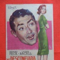 Cine: MI DESCONFIADA ESPOSA, SENCILLO EXCTE. ESTADO, GREGORY PECK, C/PUBLI SALON NOVEDADES 1959. Lote 127660739