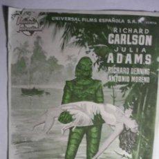 Cine: PROGRAMA LA MUJER Y EL MONSTRUO .-JULIA ADAMS --PUBLICIDAD. Lote 192736255