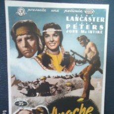 Cine: APACHE - BURT LANCASTER - SIN PUBLICIDAD. Lote 127764159