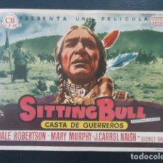 Cine: SITTING BULL (CASTA DE GUERREROS) - CINE CORDOBA - LINARES- JAEN. Lote 127765179