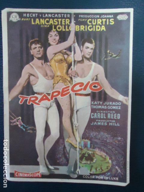 TRAPECIO - BURT LANCASTER, TONY CURTIS, GINA LOLLOBRIGIDA-CINE CERVANTES- LINARES - JAEN (Cine - Folletos de Mano - Comedia)