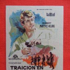 Cine: TRAICION EN ATENAS, IMPECABLE SENCILLO, ROBERT MITCHUM, CON PUBLI AVENIDA 1963. Lote 127767131
