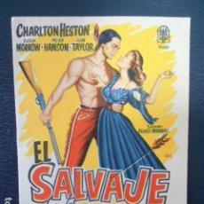 Cine: EL SALVAJE - CHARLTON HESTON - SIN PUBLICIDAD. Lote 127769311